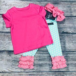 Matilda Jane NWT flower legging + Primary T 3-6m